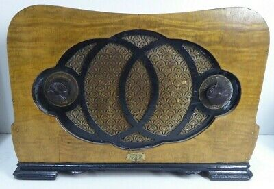 Original Art Deco Astor Mickey Wooden Timber Veneer Valve Mantle Radio