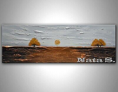 Abstract Landscape Painting, Seascape, Palette Knife Modern Wall Decor by Nata S
