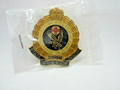 Sydney 2000 Police State Hockey Centre Olympic Security Gold Limited Edition NSW