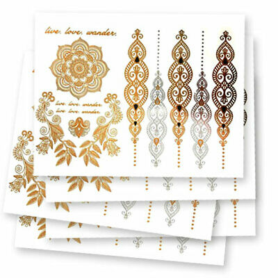Gold & Silver Fake tattoo's | 5 temporary tattoo sheets