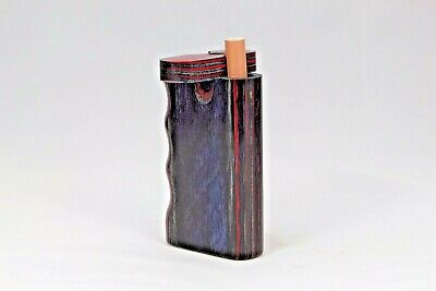 """3"""" Dugout One Hitter Paisley Diamond Wood Twist Top With Aluminum Cigarette"""