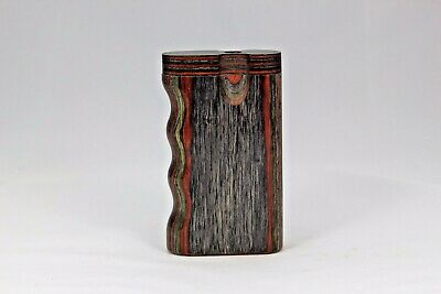 """3"""" Dugout One Hitter Camo Diamond Wood Twist Top With Aluminum Cigarette"""