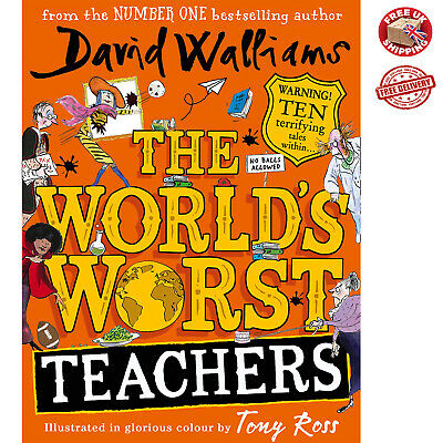 The World s Worst Teachers David Walliams NEW Hardcover Book Fun Kids NEW