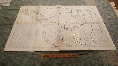 Jo Davies County Illinois 1973 Official Road Map Large 25 x 38             1B