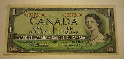 1954 $1 DOLLAR CANADA BANKNOTE Replacement *BM