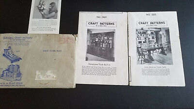 CRAFT PATTERNS No. 1369 Built-in 1355 Trestle Table by A. Neely Hall, Vintage VG