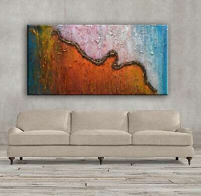 """Original Modern Heavy Textured Abstract Painting.Large Painting  48""""....-Nata S"""