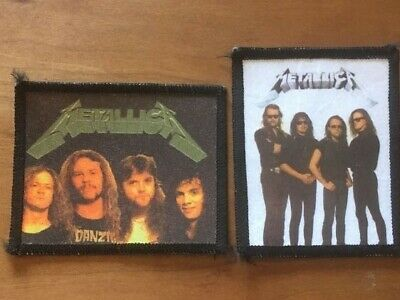"Coppia TOPPE / PATCH Rock Band Vintage ""METALLICA"" Stampate,da cucire"