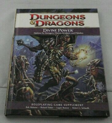 Dungeons and Dragons 4th Ed: Divine Power Cleric/Paladin Options TSR21790 D&D