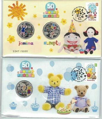 2016 50c 50 Years of Play School PNC Coin Set Jemina Humpty Big and Little Ted