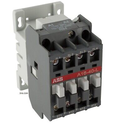 4 POLE CONTACTOR NC Normally Closed ABB A16 04 30A, 120V COIL Lighting, Heater