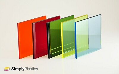 Perspex® Coloured Tinted Acrylic Plastic Sheet Panel / Cut to Size / 3mm & 5mm