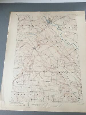 US Geological Survey Topography Map,1904 Quadrangle Carthage New York