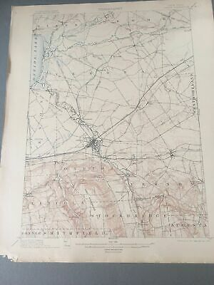 US Geological Survey Topography Map,1905 Quadrangle Oneida New York