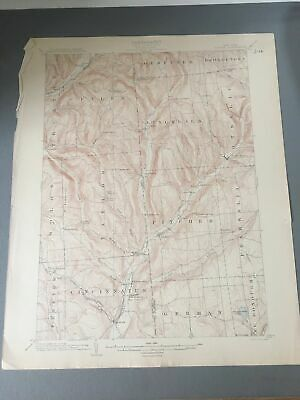 US Geological Survey Topography Map,1904 Quadrangle Pitcher New York
