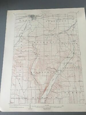 US Geological Survey Topography Map,1904 Quadrangle Batavia New York