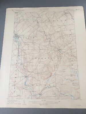 US Geological Survey Topography Map,1907 Quadrangle Potsdam St Lawrence New York