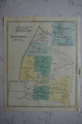 Map 1868 Bloomfield, Connecticut FW Beers