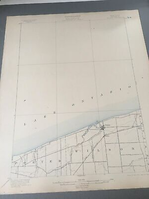 US Geological Survey Topography Map,1905 Quadrangle Wilson Niagara New York