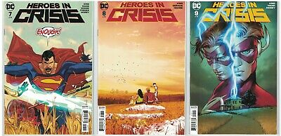 HEROES IN CRISIS 7 8 9 SET (DC-2018) Superman! Harley Quinn! Booster Gold! NM