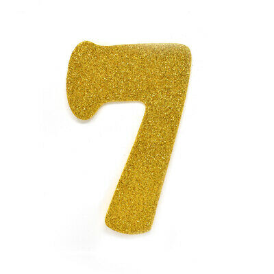 "EVA Glitter Foam Number Cut Out ""7"", Gold, 4-1/2-Inch, 12-Count"