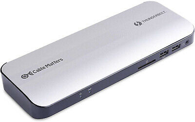 Certified Cable Matters Aluminum Thunderbolt 3 Dock With HDMI 2.0 And 60W For