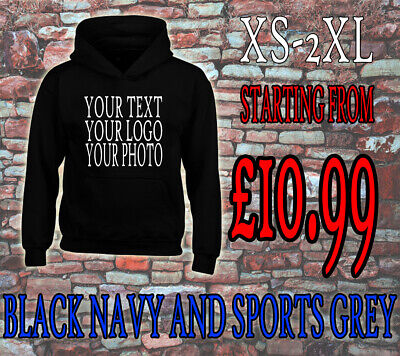 Custom Personalised Hoodie  Unisex Stag Hen Work Wear Customised, Your Image