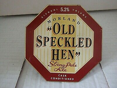 Vintage 1980s Morland Old Speckled Hen Pub Beer Hand Pull Pump Clip With Clamp