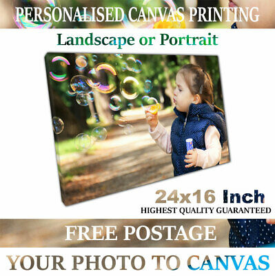 24x16 Inch A2 Canvas Print Your Personalised Photo Picture printed onto canvas