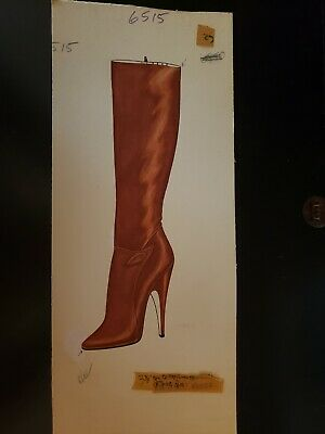 Original Concept Art Frederick's of Hollywood-Advertising-Shoes-Orange Boot