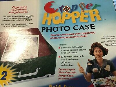 Cropper Hopper Photo System Organizer Storage Case 2000 Photos New Purple