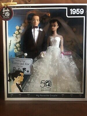 BARBIE & KEN REPRODUCTION WEDDING DAY GIFT SET /50th Anniversary Collector