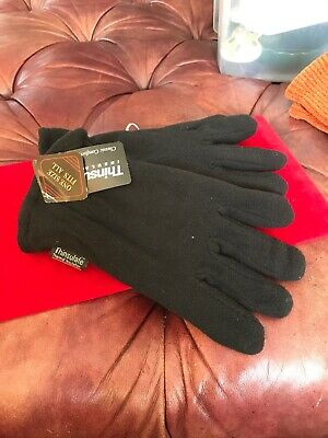 Women's Gloves - Thinsulate - Thermal Insulation - One Size Fits All - Black