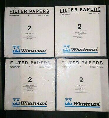 Lot of 400ea (4 Packs) - Whatman Filter Paper Grade 2, 185mm - Free Shipping