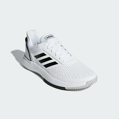 Adidas Men's Courtsmash Sneakers Tennis Shoes White, Pick A Size