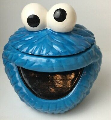 Muppets Sesame Street Cookie Monster Cookie Jar Head Collectable