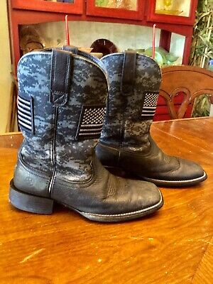 f77d3e9152388 ARIAT® MEN'S BLACK Sport Patriot Round Toe Boot 10023363 - $119.95 ...