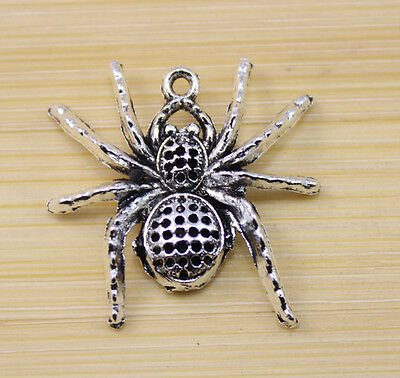 10/30/100 pcs Very lucky lovely spider charm pendant 35x33 mm