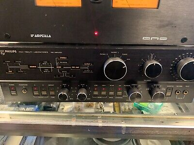 PHILIPS High Fidelity Labs Pre Amplifier Model 5721 great working order black