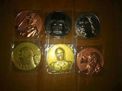 2005 California Lottery Star Wars Commemorative 6 Coin Promo Set