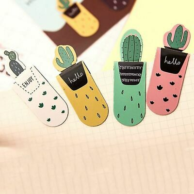 3pcs/pack Cactus Magnetic Bookmark Multi-function School Office Supply