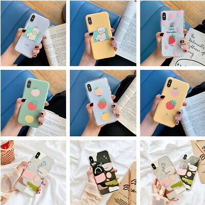 Cute Pattern Transparent Soft Rubber Case Cover For iPhone XS Max XR X 8 7 Plus