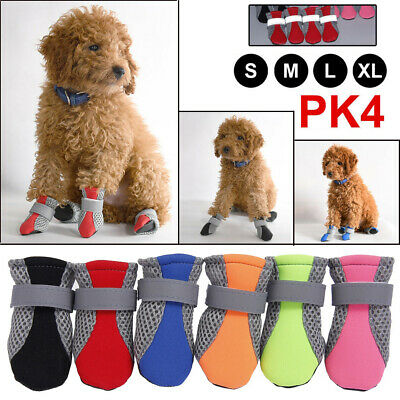 4Pcs/Set Anti Slip Pet Dog Shoes Waterproof Protective Rain Boots Booties Socks