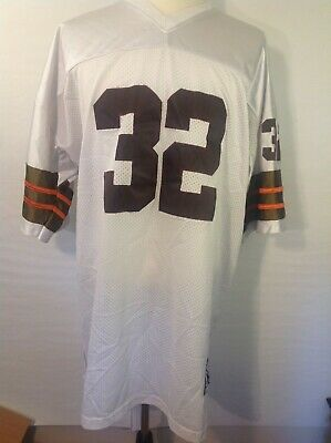 c53f34f6 Mitchell & Ness Jim Brown Cleveland Browns throwback jersey NFL 32 XXL Size  60