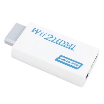 Wii to HDMI Converter 480P 3.5mm Audio Converter Adapter Box Wii-link S9Y4