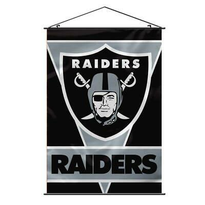 """Oakland Raiders Premium 28""""x40"""" Wall Banner [NEW] NFL Sign Cave Flag"""