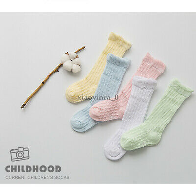 Baby Toddler Girl's Boy's Soft Leggings Warmer Leg Warmers Knee Long Socks AU