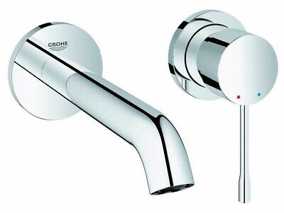 Grohe ESSENCE NEW WALL BASIN MIXER TAP TRIMSET Straight, Chrome- 183mm Or 230mm