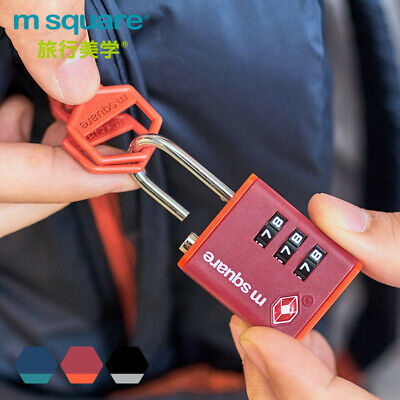 M Square TSA Approved Open Alert 3 Digit Combo Dial Code Travel Luggage Lock