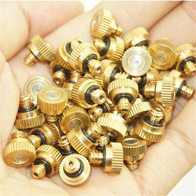 """Brass Misting Nozzles Water Mister Sprinkles For Cooling System 0.012"""" 10/24 UNC"""